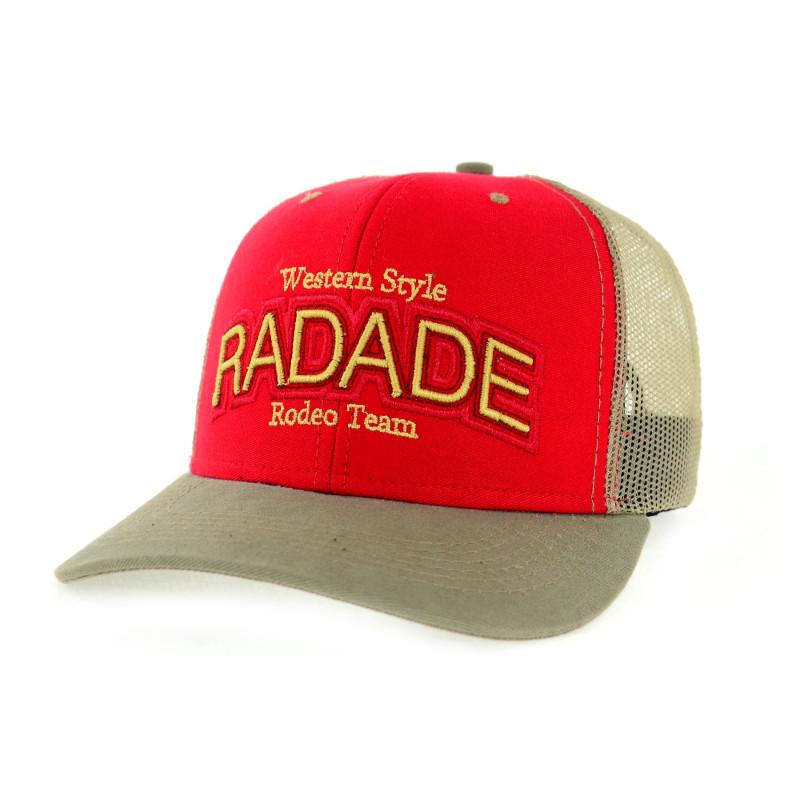 Boné Radade Vermelho   Aba Bege   Tela Dourado - 7617 d9ca271abb3