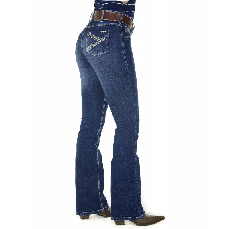 Calça Jeans Feminina Radade CF Tacks Boot Cut 13e503a87ca