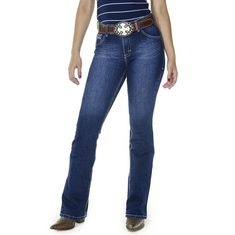 70b1890fdb057 Calça Jeans Feminina Radade CF Tacks Boot Cut. Passe o mouse para ver mais  detalhes Ampliar imagem. Previous