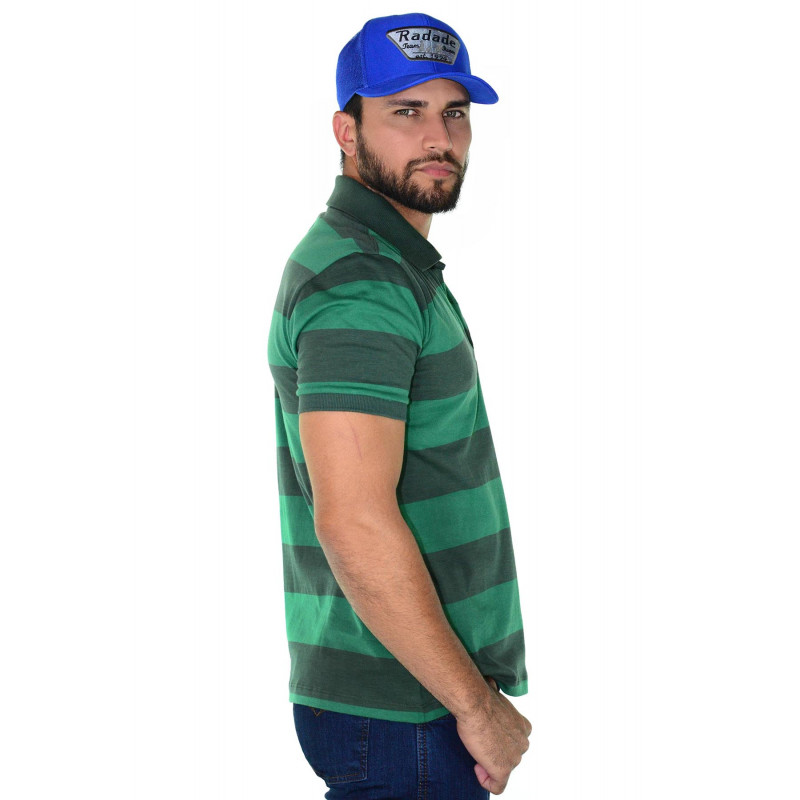 Polo Masculina Radade Listra Verde c64ba3ed95d5a