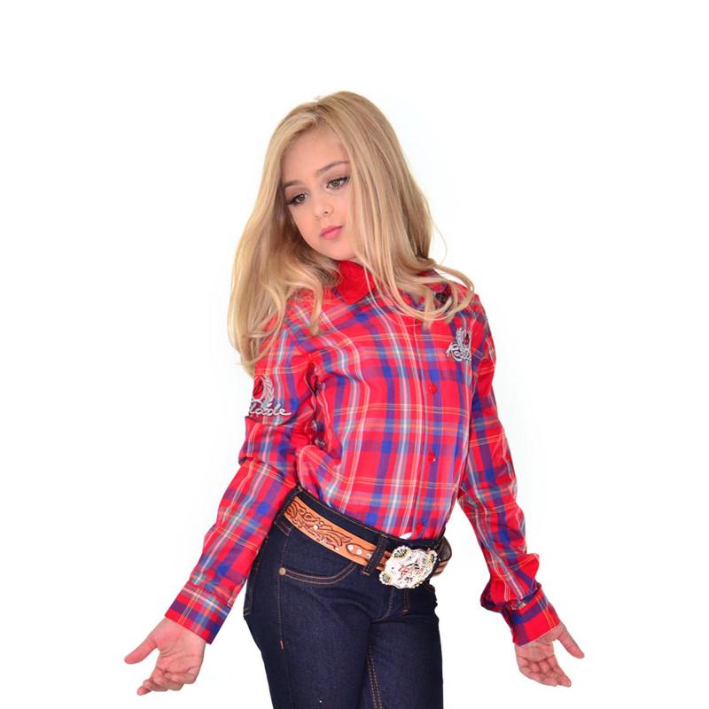 12b67b964b Camisa Radade Infantil Manga Longa Bordada Xadrez - 0236