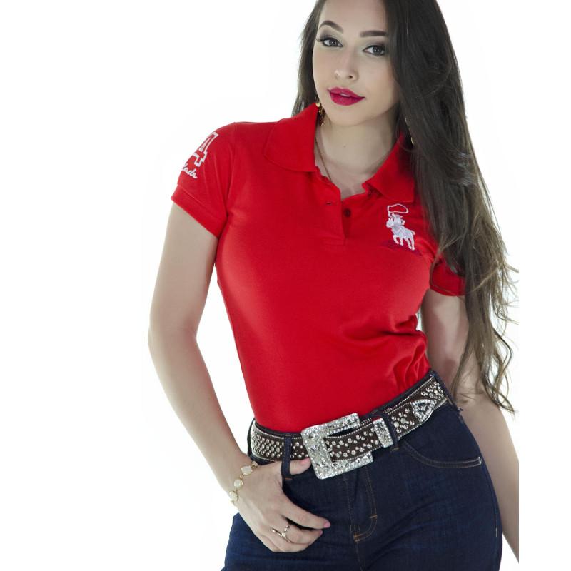 Polo Feminina Radade Lisa Classic Laranja - 0146 2a0eb96abb367