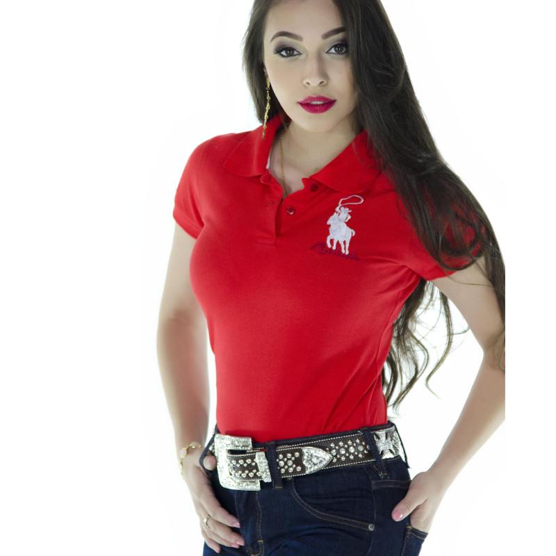 ... Polo Feminina Radade Lisa Classic Laranja - 0146. Passe ... 06f426cb9bf0f
