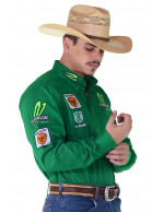 Camisa Radade Manga Longa Bordada VT Brands Verde - 1043
