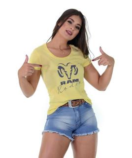 Baby Look Radade RAM Rodeo cor Amarela - 1198