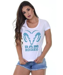 Baby Look Radade RAM Rodeo cor Branca - 1199