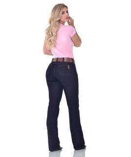 Calça Jeans Feminina Cowboy ST Flare Azul