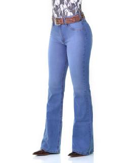 Calça Jeans Feminina Cowboy ST Flare Delave