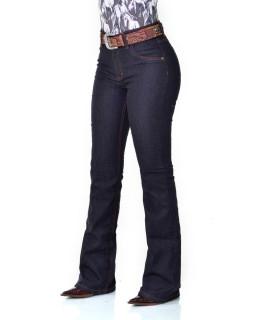 Calça Jeans Feminina Cowboy ST Flare Preta