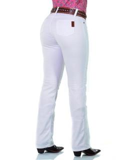 Calça Jeans Feminina Cowboy ST Lycra White