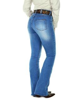 Calça Jeans Feminina Radade CF Lycra Flare Super Delave