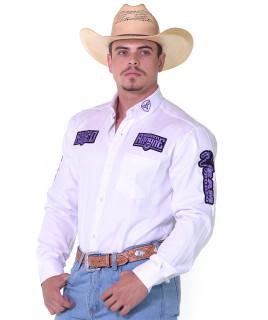 Camisa Manga Longa Bordada Rodeo RAM Radade cor Branca - 1210