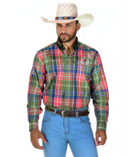 Camisa Masculina Radade MLXB Verde e Azul - 0114