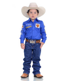 Camisa Radade Infantil Manga Longa Bordada Brands Royal - 1047
