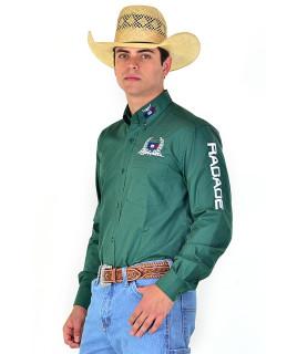 Camisa Radade Manga Longa Bordada Classic Verde- 0833