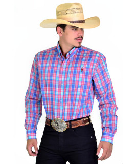 Camisa Radade Xadrez Manga Longa XN Azul e Vermelho - 0929