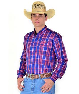 Camisa Radade Xadrez Manga Longa XN Verde e Vermelho - 0857
