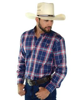 Camisa Radade Xadrez MLXN Azul e Vermelho - 0264