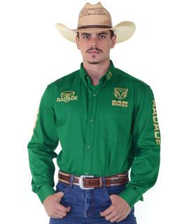 Camisa RAM Radade Team Sarja Manga Longa Bordada Verde - 1041