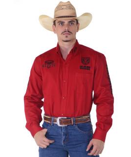 Camisa RAM Radade Team Sarja Manga Longa Bordada Vermelha - 1042