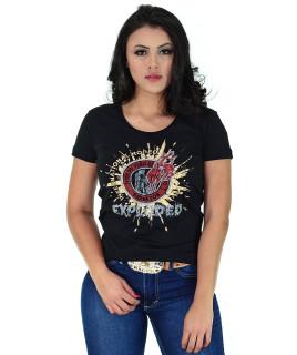 Camiseta Baby Look Barretos Preta - B246