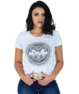 Camiseta Baby Look RAM Radade Team Branca - R 0115