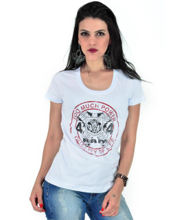 Camiseta Baby Look RAM Radade Team Branca - R 132