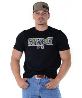 Camiseta Cowboy St Silk Preta - 1140