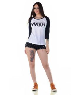 Camiseta Feminina Radade Wish Preto e Branco - 1156
