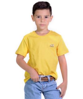 Camiseta Infantil Radade Bordada Amarela - 1059