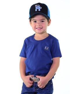 Camiseta Infantil Radade Bordada Azul - 1260
