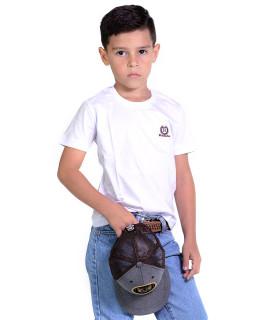 Camiseta Infantil Radade Bordada Branca - 1057