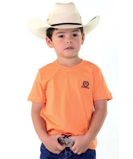 Camiseta Infantil Radade Bordada Laranja - 0682