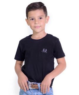Camiseta Infantil Radade Bordada Preta - 1058