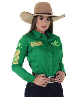Camisete Radade Manga Longa Bordada Green Team cor Verde - 1167