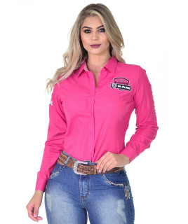 Camisete RAM Radade Team Manga Longa Bordada Pink - 1016