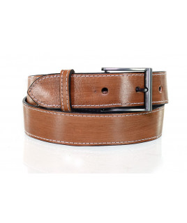 Cinto Max West Belts em Couro Unissex Largo Liso Caramelo - MWB-009