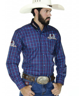 Camisa Radade Xadrez MLXB Azul e Vermelho - 0199