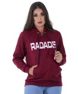 Moletom Feminino Radade RDE Vinho - 1207