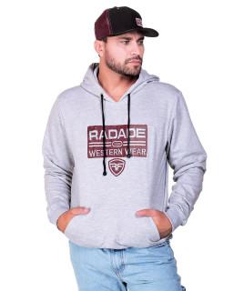 Moletom Radade RDE Bordado Cinza - 1264