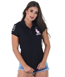 Polo Feminina Radade Lisa Classic Preto - 1178