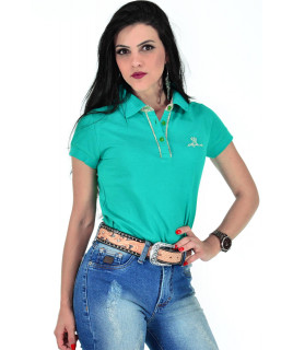 Polo Feminina Radade Vies Classic Verde - 1819