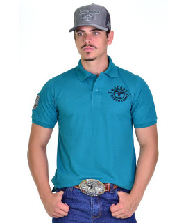 Polo Masculina Radade Classic Horn Azul - 1071