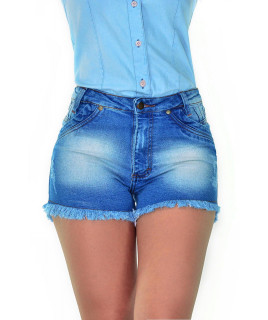 Short Feminino Cowboy ST Summer Lycra Destroyed