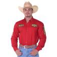 Camisa Manga Longa Bordada Rodeo RAM Radade cor Vermelho - 1215