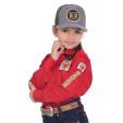Camisa Radade Infantil Unisex Manga Longa Bordada Brands Vermelha - 1048